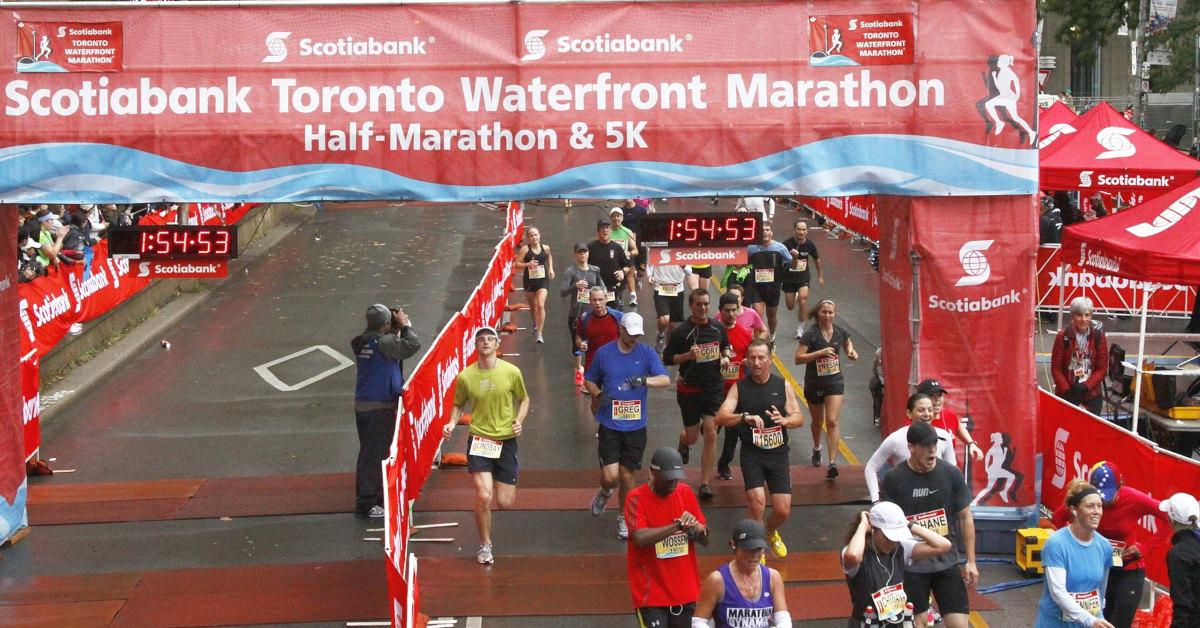 2012 Waterfront Marathon Finish