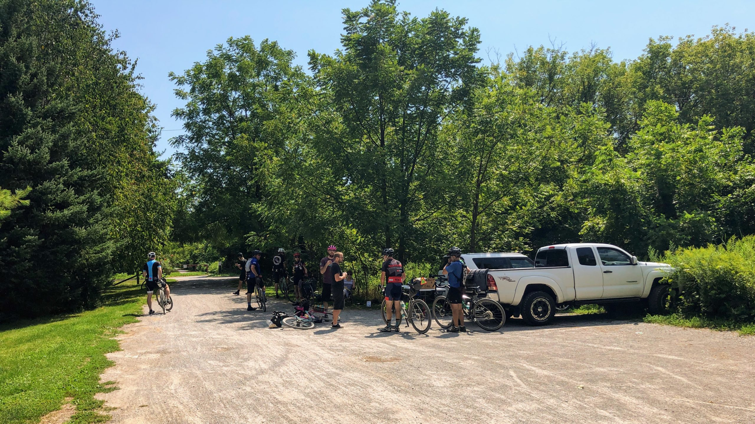 Aid station along the Cannonball 300 just outside of Port Dover