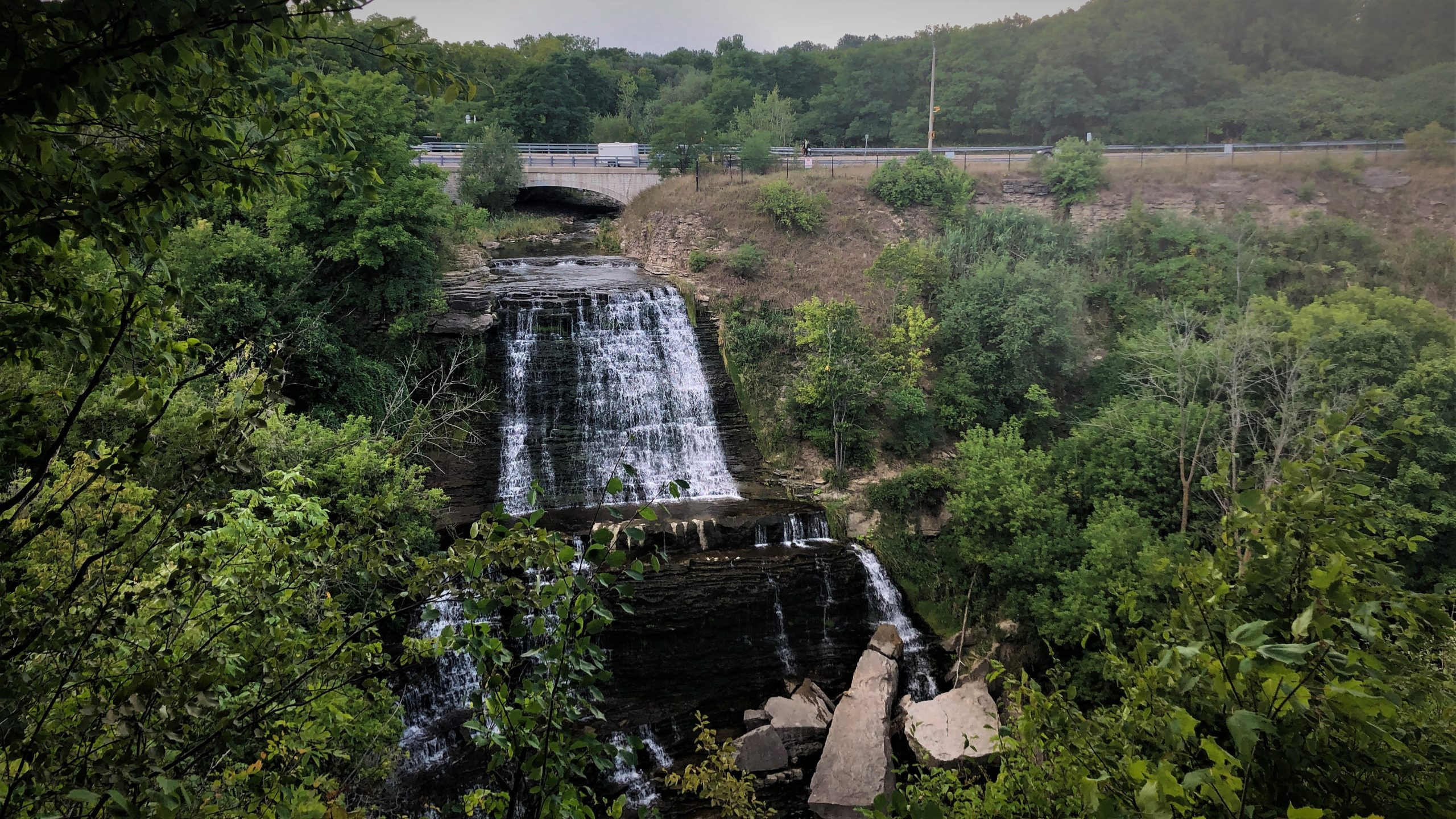 Albion Falls view from the Cannonball 300 Bikepacking Route
