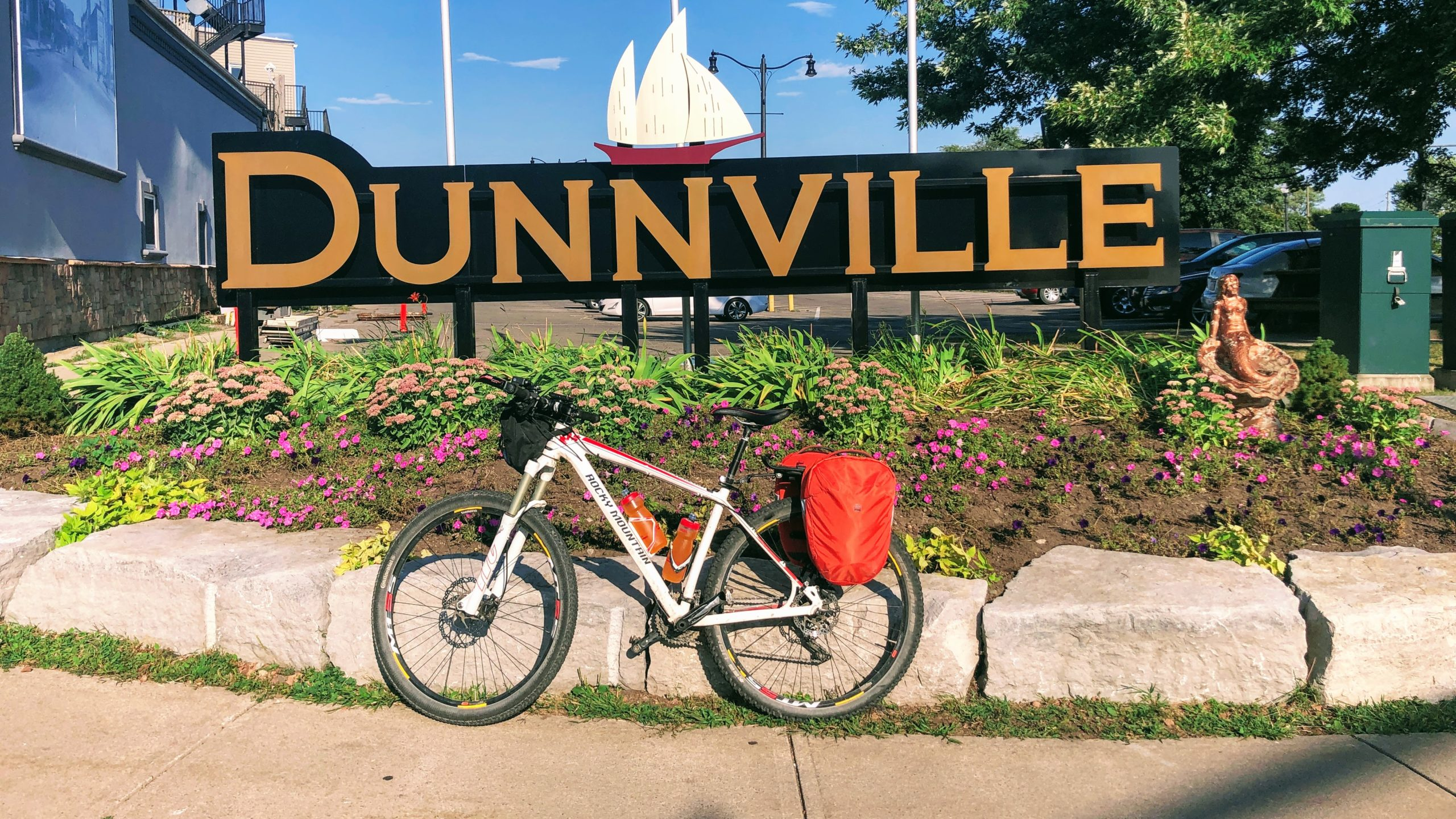 Parking in front of the Dunnville ON sign