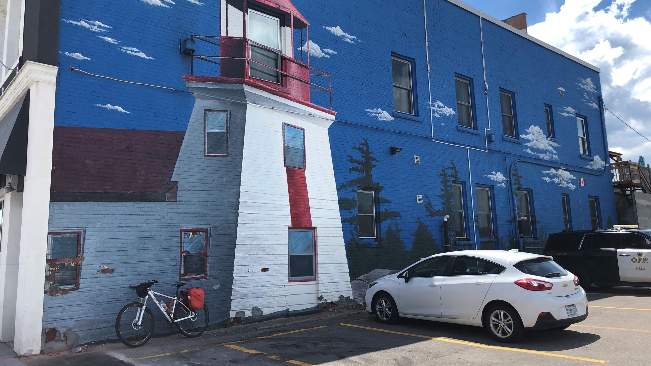 Simcoe County Loop Trail - Brebuf Lighthouse Mural Midland, ON