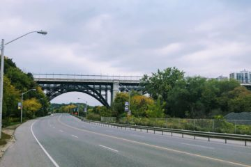 A picture of the view back to the Bloor Viaduct while running my Metric Marathon Long Run on Saturday October 10.