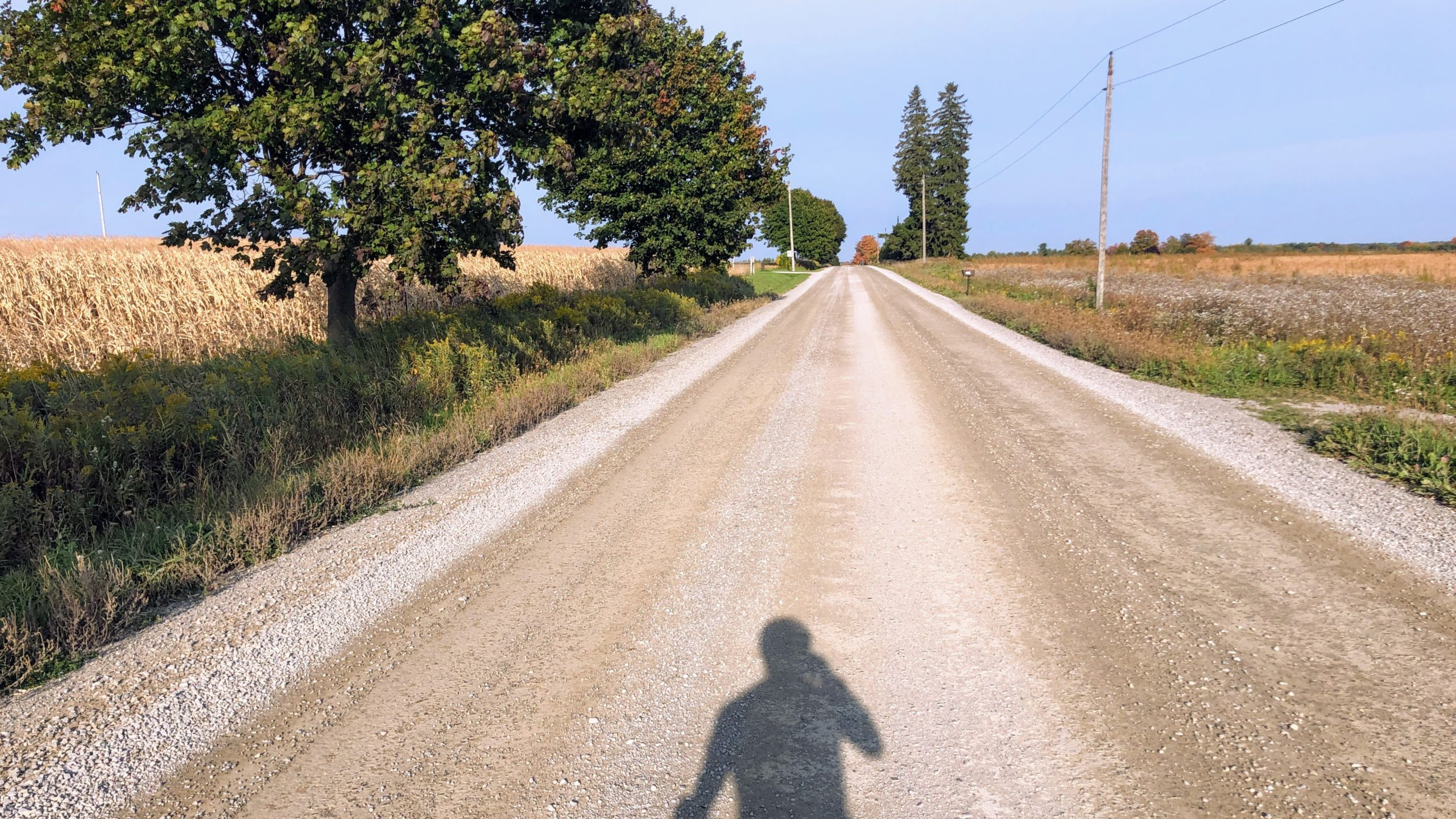 Back on the gravel after finishing Byers Road, hoping the sand was done for the day.