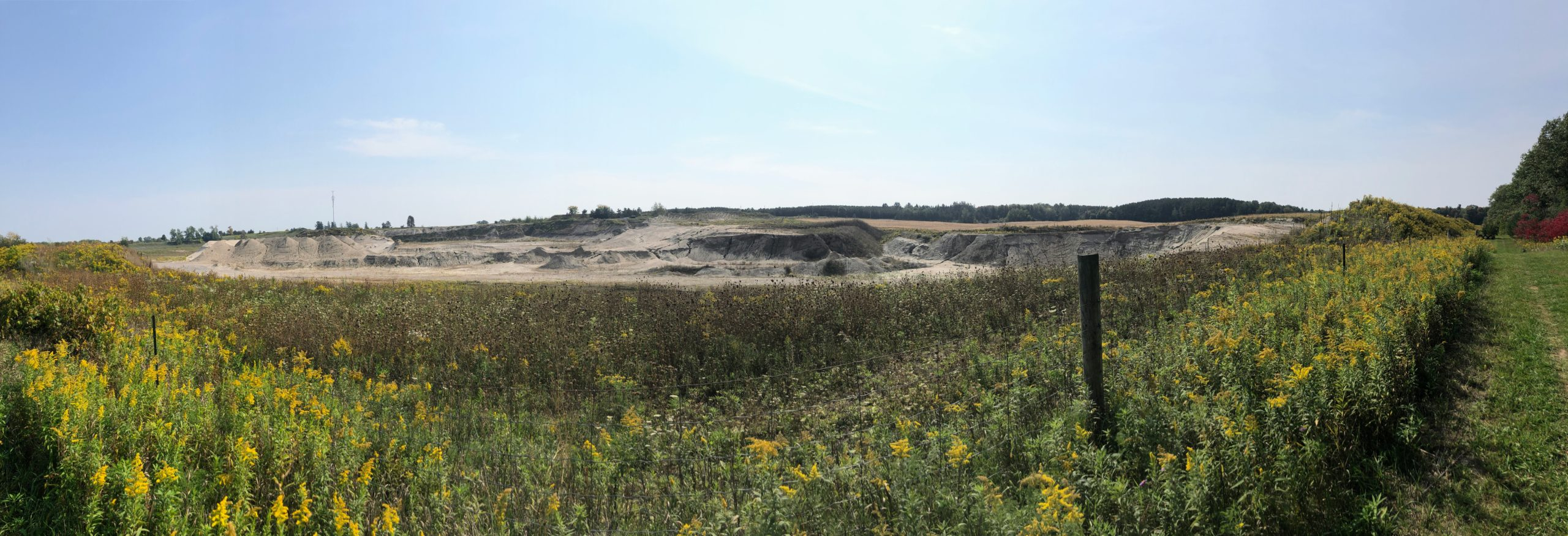 A view of a sand quarry outside Uxbridge, on the way into Durham Forest while riding the Durham Destroyer