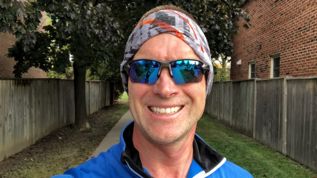 Dressed up for and finished my first cold morning run of the fall.