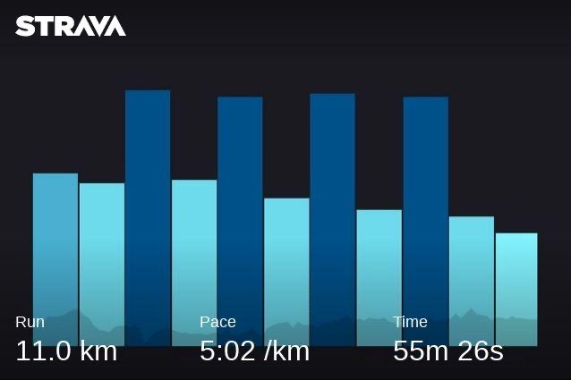 Strava chart of my intervals today, the best I've set so far in 2020