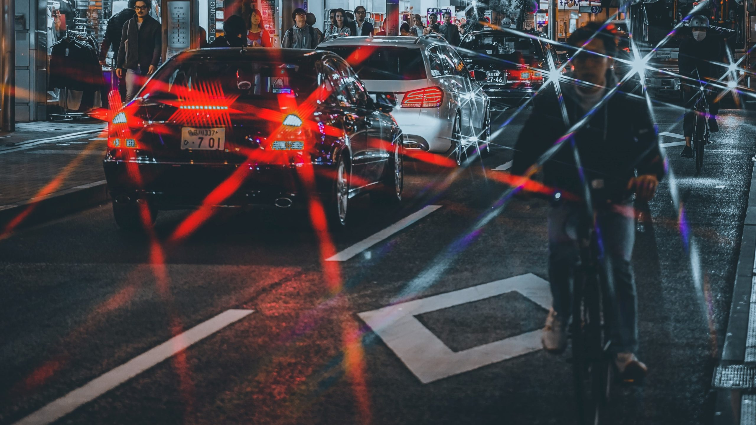 The importance of lights, clothing, and reflectivity when riding at night.