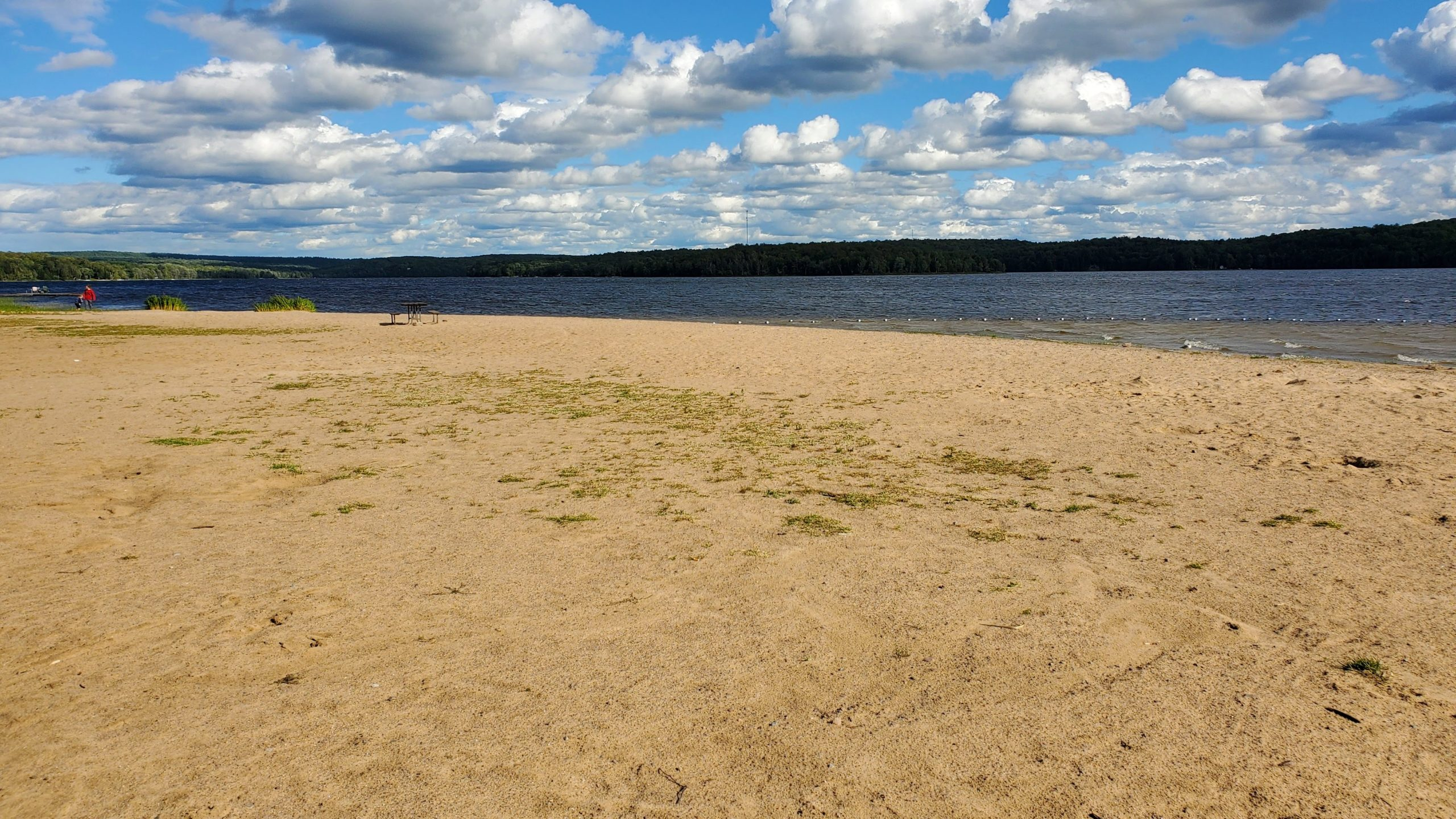 View of Putts Point Beach for my Restoule Provincial Park Review