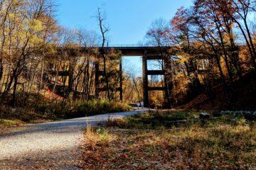 Photo of the Rail Bridge over David Balfour Park