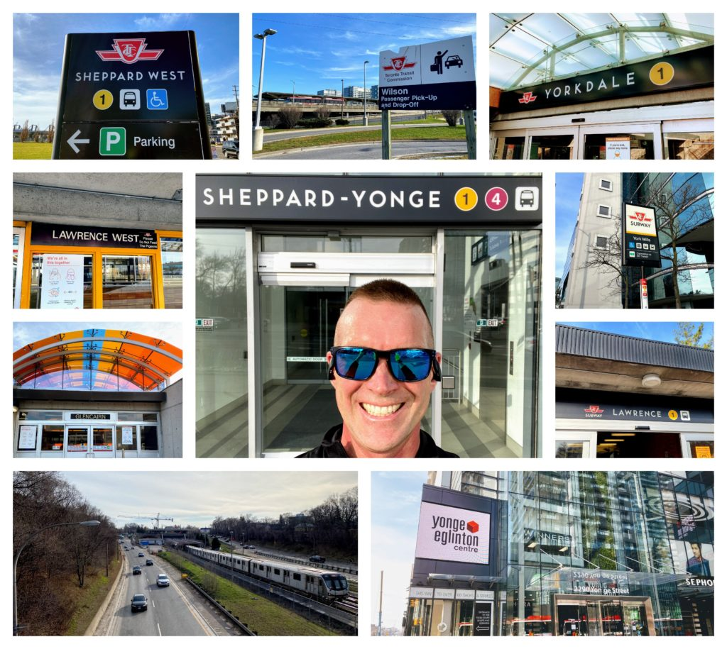 Collage of Photos From the TTC Challenge Shep to Shep via Eglinton
