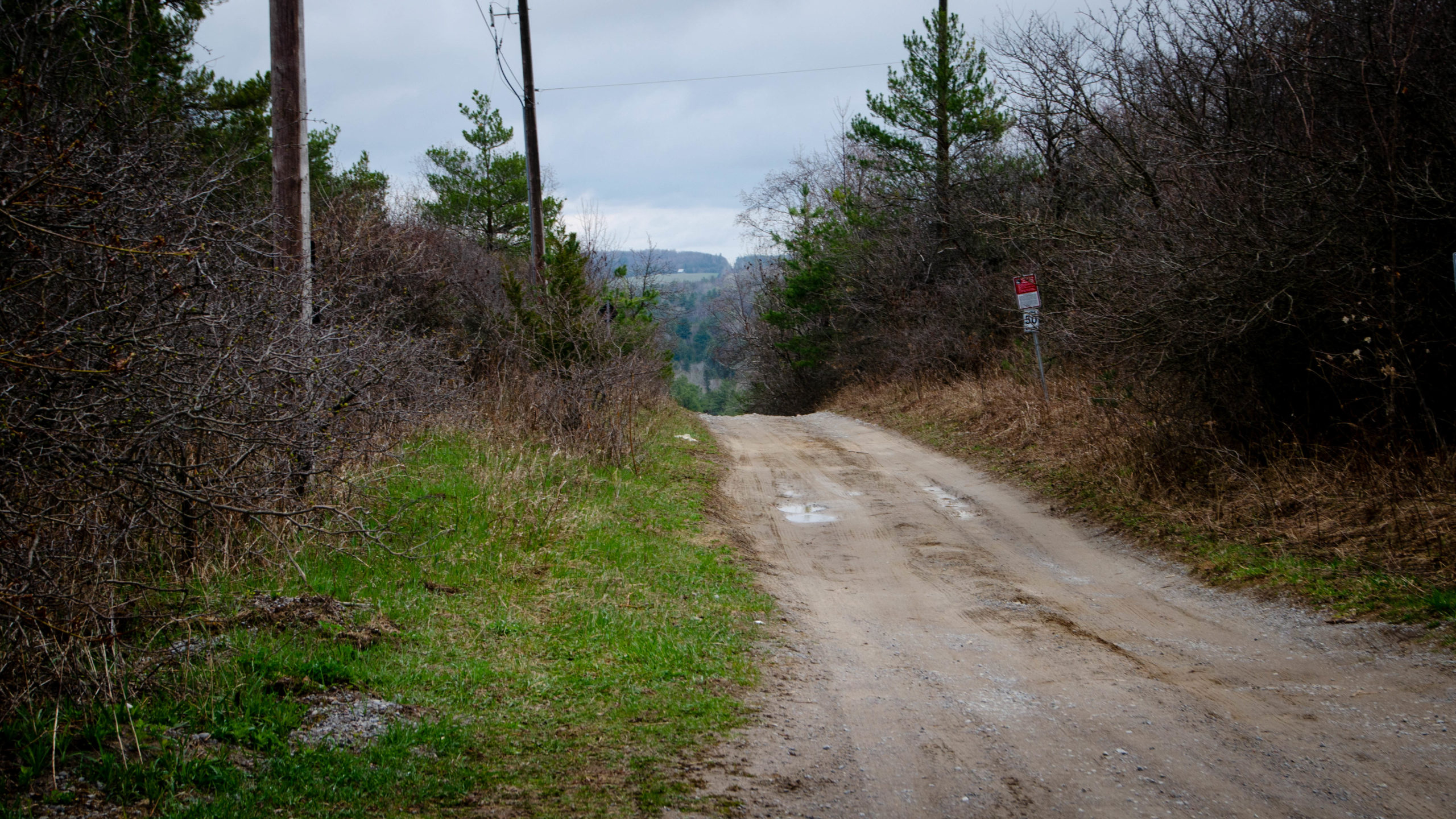 Looking back at the hell at was Ballyduff Rd, while riding the Tour of Scugog.
