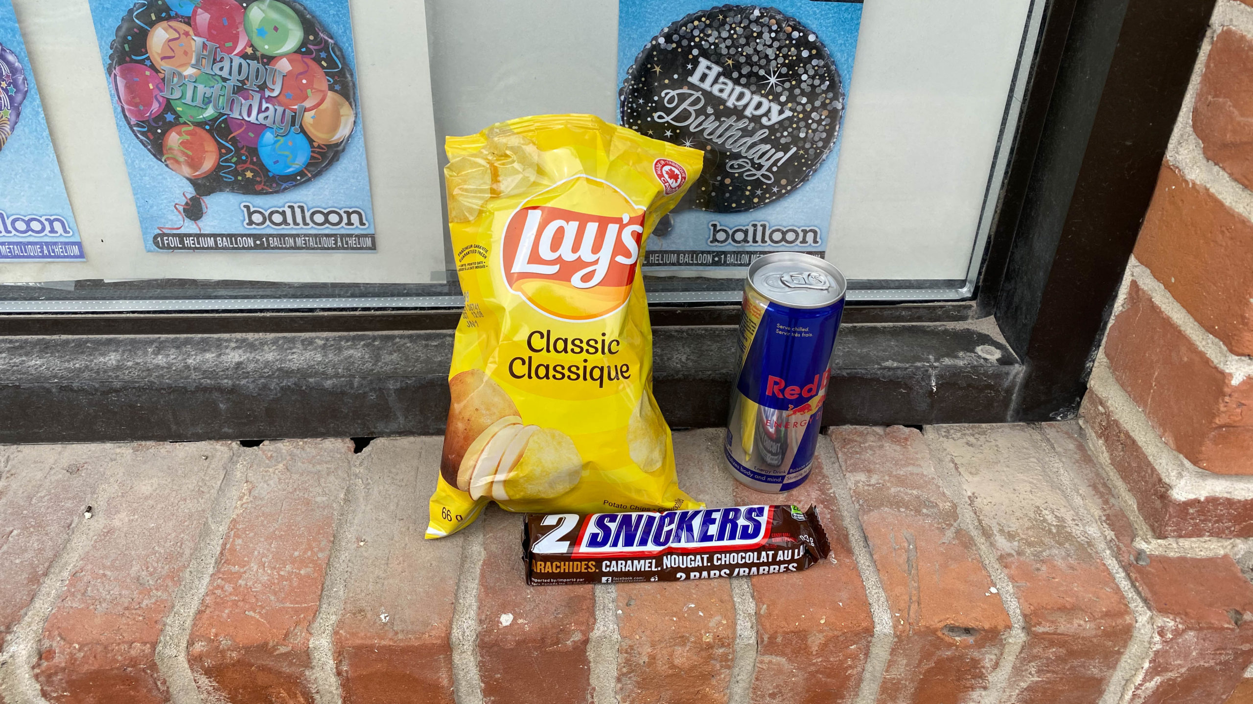 Lunch of Champions, Lays, Snickers, and Red Bull