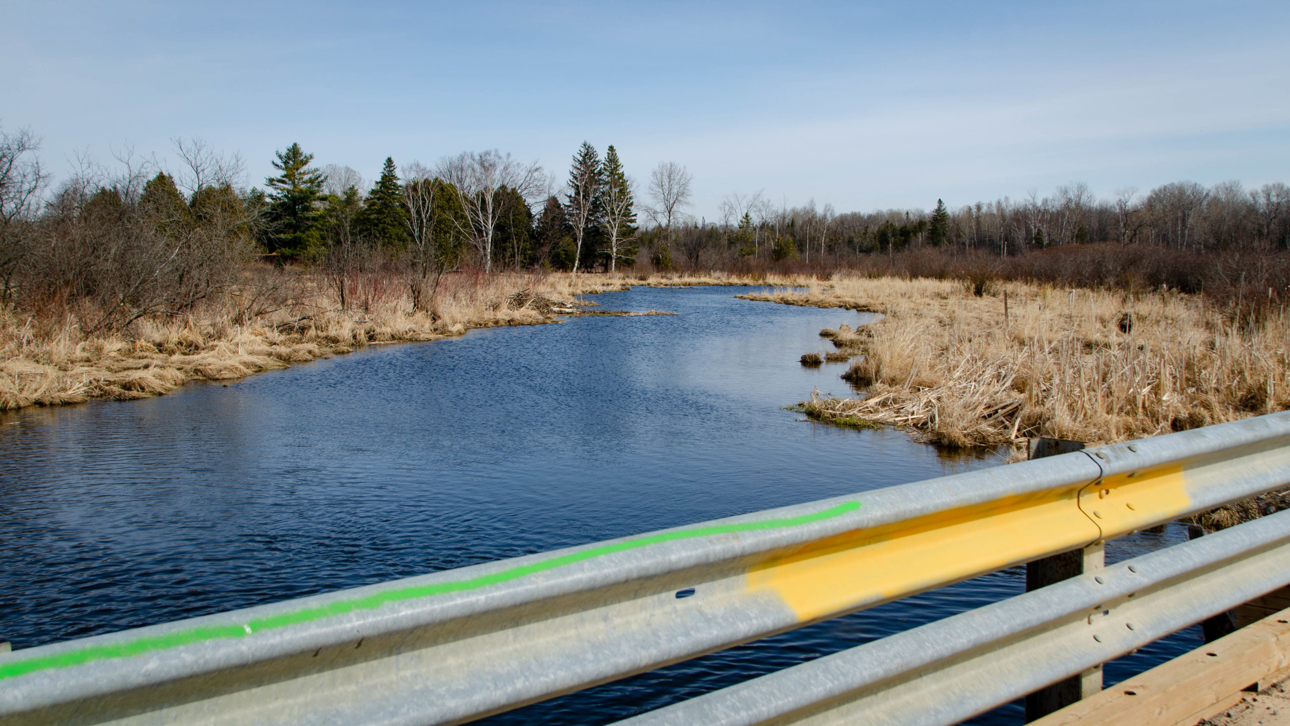 Photo of the beaver dam see on the Line 8 bridge, north of Port Perry, Durham Destroyer - The Rookie start.