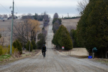 Mike Riding Up Concession Road 2 North of Port Perry