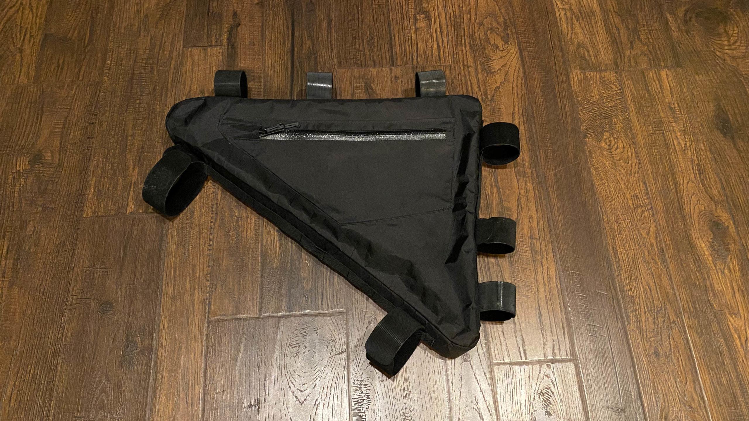 Field and Forest Frame Bag optional side pocket shot.