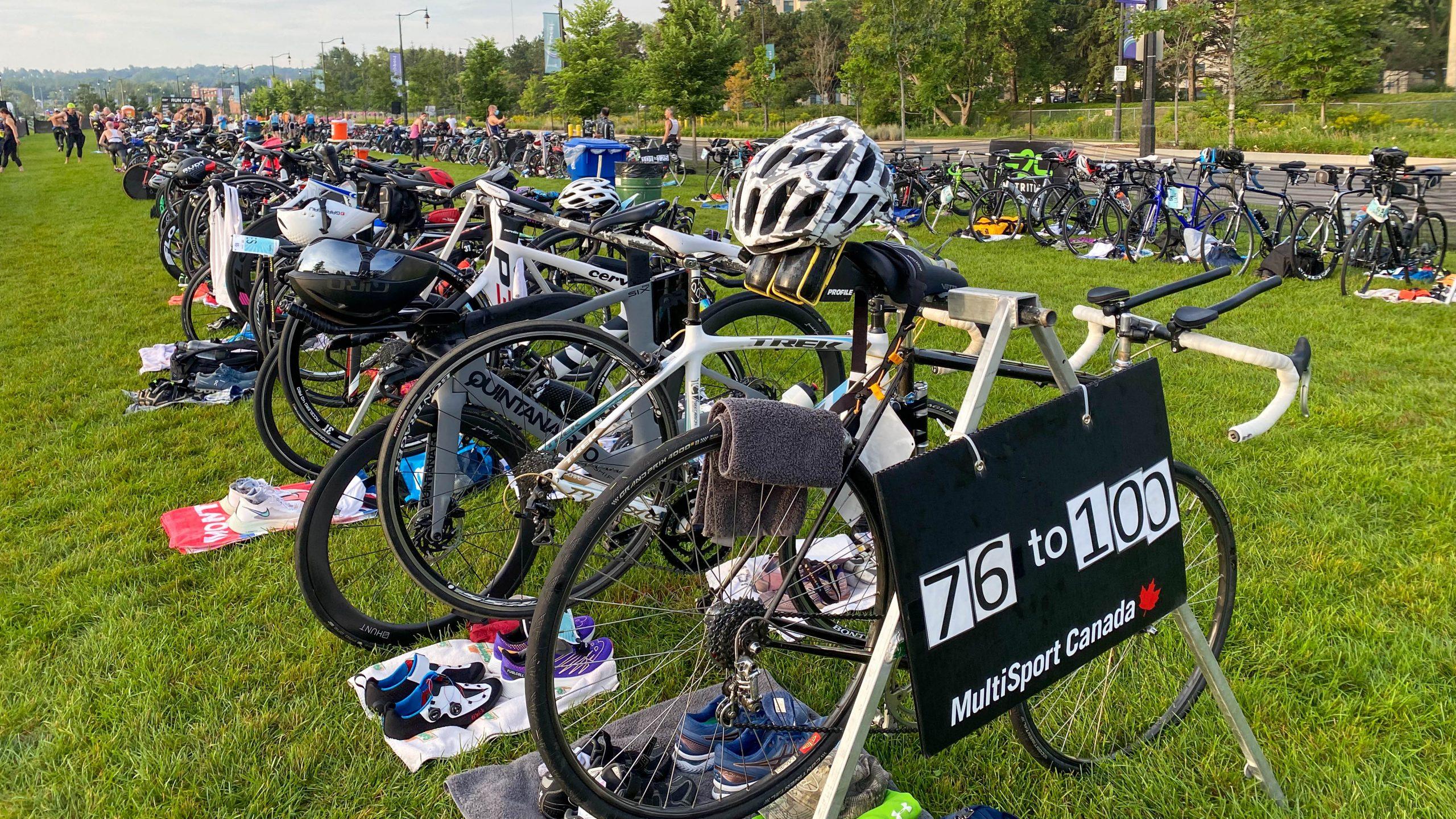 2021 Barrie Triathlon Transition